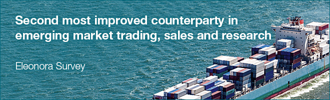 Second most improved counterparty in emerging market trading, sales and research - Eleonora Survey