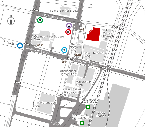 omura Securities Co., Ltd. Otemachi Head Office Map