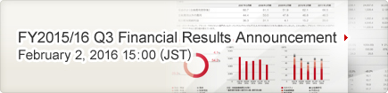 FY2015/16 Q1 Financial Results Announcement