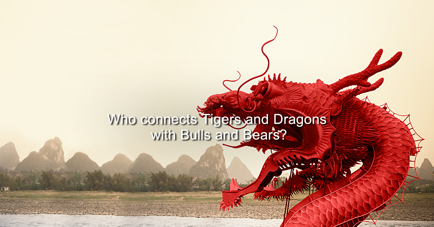 Who connects Tigers and Dragons with Bulls and Bears?