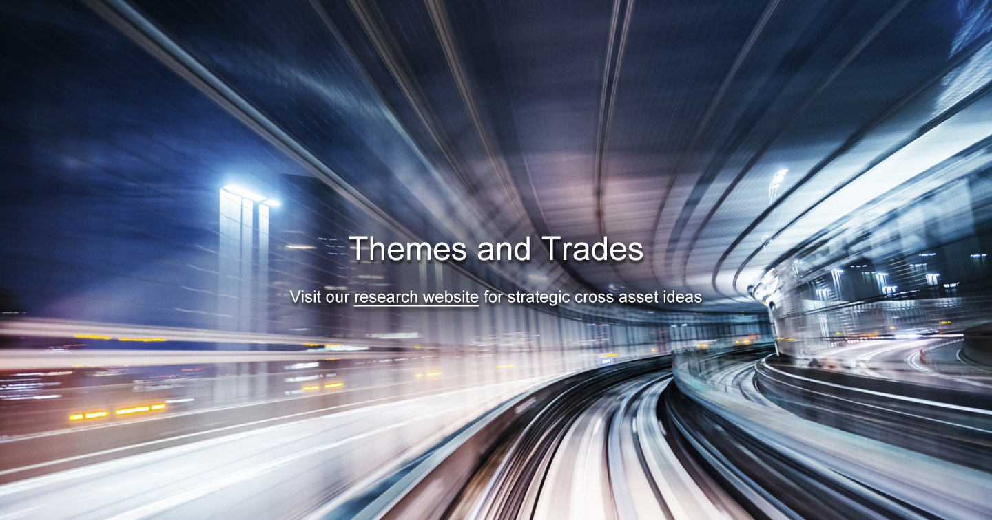 Themes and Trades Visit our research website for strategic cross asset ideas